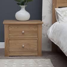 Kingston Bedroom Furniture Kingston Solid Oak Bedroom Furniture Two Drawer Wide Bedside Cabinet