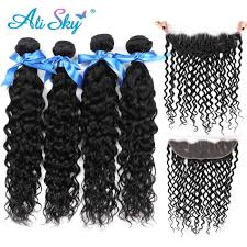<b>Alisky Hair Brazilian Water</b> Wave Lace Frontal 13X4 Human Hair ...