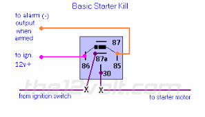 how to wire relays starter kill normally closed starter kill normally closed