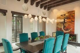 mercury glass pendant light dining room mediterranean with beamed ceiling chandelier dark wood beams dining