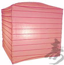 pink 10 square paper lantern 6 pk