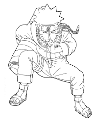 Sweet Looking Naruto Coloring Page Free Printable Pages For Kids