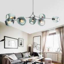 modern multi start glass ball chandeliers lighting for living room bedroom kitchen decor vintage vallkin hanging light fixture black chandelier modern