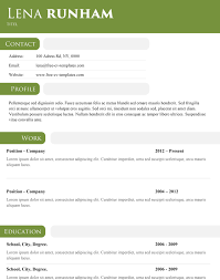 Modern Resume Templates Green Green Header Modern And Simple Template For A Stunning Resume