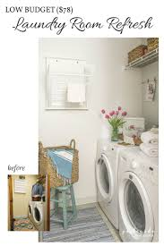low budget laundry room makeover