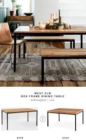 west elm box frame dining table