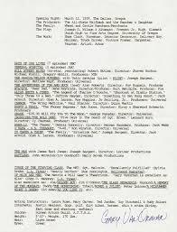 Gary Van Orman Resume Signed Autographs Manuscripts
