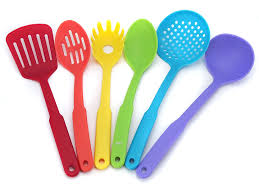 colorful kitchen utensils. RAINBOW Colored Plastic Kitchen Utensils Set 6 Pcs Colorful W