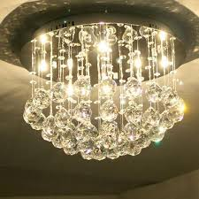 modern chandlier cristal lamparas candiles round crystal chandelier bedroom light crystal drops crystal lighting fixtures