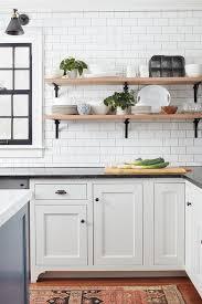 wraparound iron and wood kitchen shelves