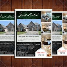open house flyers template just listed real estate marketing open house flyer template realty