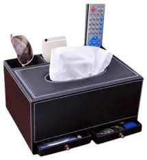 <b>Fashion</b> Upscale Leather <b>Tissue Box Multifunctional</b> Tissue Holders ...
