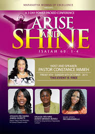 maranatha ministires christian church in clapham common arise and shine flyer design 1