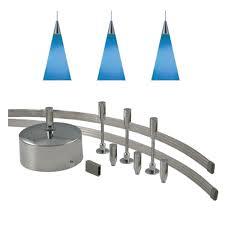monorail pendant lighting. JESCO Lighting 96 In. Low-Voltage 150-Watt Monorail Kit With 3 Blue Pendant G
