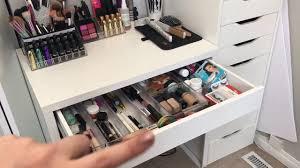everyday makeup organization ikea micke desk