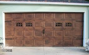 DIY Faux Wood Garage Door Tutorial By Prodigal Pieces Www.prodigalpieces.com  Pinterest a