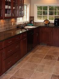 kitchens with dark cabinets and tile floors. Fine Tile Kitchen Tile Flooring Dark Cabinets With Kitchens And Floors I