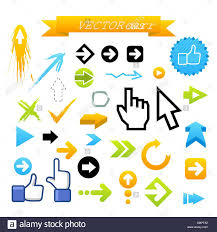 Web Design Arrows Collection Of Vector Arrows Web Design Illustration Stock