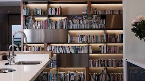 20 Charming Ways of Adding Bookshelves in the Kitchen | Home Design Lover