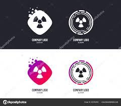 Radiation Logo Design Logotype Concept Radiation Sign Icon Danger Symbol Logo