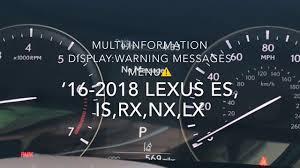 Lexus Is 250 Dashboard Warning Lights Lexus Dashboard Display Warning Messages And Warning Lights