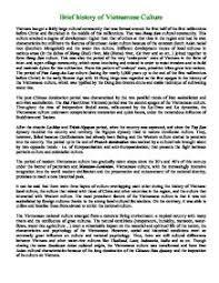 vietnam war marked by teachers com brief history of viet se culture
