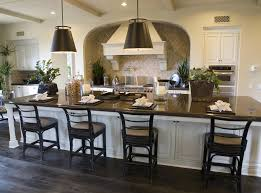 Enchanting large kitchen island decor idea with black seating