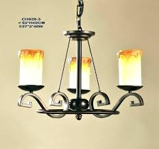 faux candle chandelier appealing black iron with 8 light pillar round 3 outdoor 12