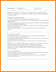 Mcdonalds Resume Sample Example Pdf Format Download Experience