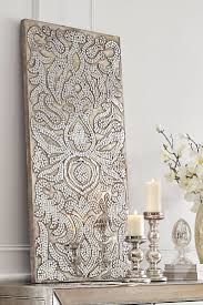 mirror wall art. champagne mirrored mosaic damask panel. pier one bedroomwall art mirror wall pinterest