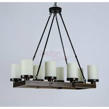 arturo rustic vintage wood led rectangular chandelier