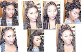 Box Braid Hair Style how to style heavy box braids 7 styles for 7 days old youtube 6621 by wearticles.com