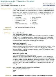 Receptionist Job Resume Sample – Lespa