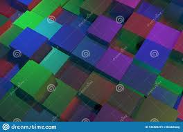 Colorful 3D Rendering. Abstract Shape ...