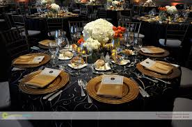 Blue And Gold Table Setting Corinthian Events Boston Smith Hall Jfk Table Setting Corinthian