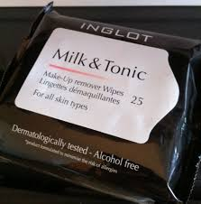 inglot milk tonic makeup remover wipes