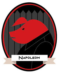 joseph stalin napoleon animal farm english assesment napoleon captured as a traditional bust the colour red the primary colour representing communism being covered by his human clothes