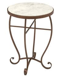 small round marble top accent table