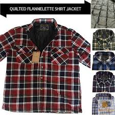Men's QUILTED FLANNELETTE SHIRT 100% COTTON Flannel Jacket Padded ... & Image is loading Men-039-s-QUILTED-FLANNELETTE-SHIRT-100-COTTON- Adamdwight.com
