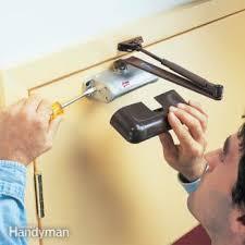 self closing door making an existing garage service door automatic