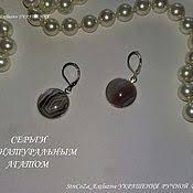 """Серьги """"Восточные"""" с <b>серебристым</b> жемчугом <b>Сваровски</b> ..."""