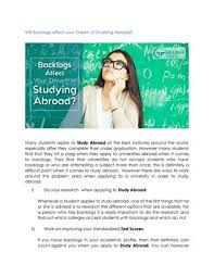 how many flyers should i put in a university will backlogs affect your dream of studying abroad by pmraju issuu