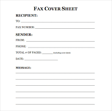Template Fax Fax Cover Sheet Letter Template