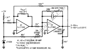 rtd circuit diagram comvt info Rtd Sensor Wiring linearized platinum rtd signal conditioner_circuit diagram world, wiring circuit wiring an rtd sensor