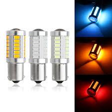Led Car Signal Lights 1pc 1156 Bau15s 33 Led Car Turn Signal Lights Daytime Running Drl Bulb Lamp Dc12v 660lm