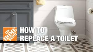 how to replace or install a toilet the home depot