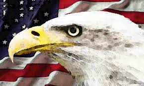 america painting bald eagle art old glory american flag by sharon mings