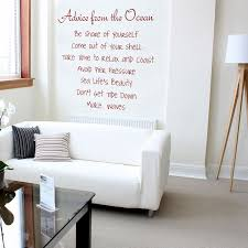 advice from the ocean e inspirational wall decals