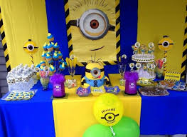 33 Best My Son 1St Birthday Minion Ideas Images On Pinterest with Minion  Table Decorations