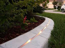 diy poured concrete edging - Google Search